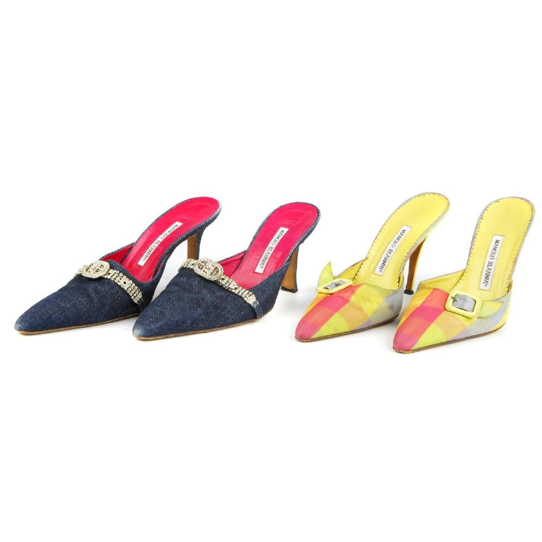 Eight pairs of women's designer shoes. To include three