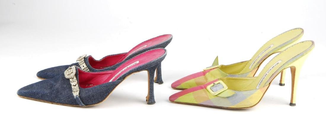 Eight pairs of women's designer shoes. To include three - 2