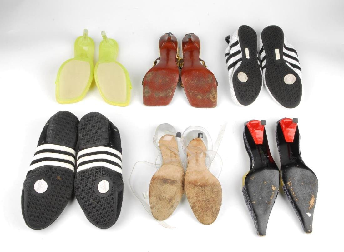 Eight pairs of women's designer shoes. To include three - 4
