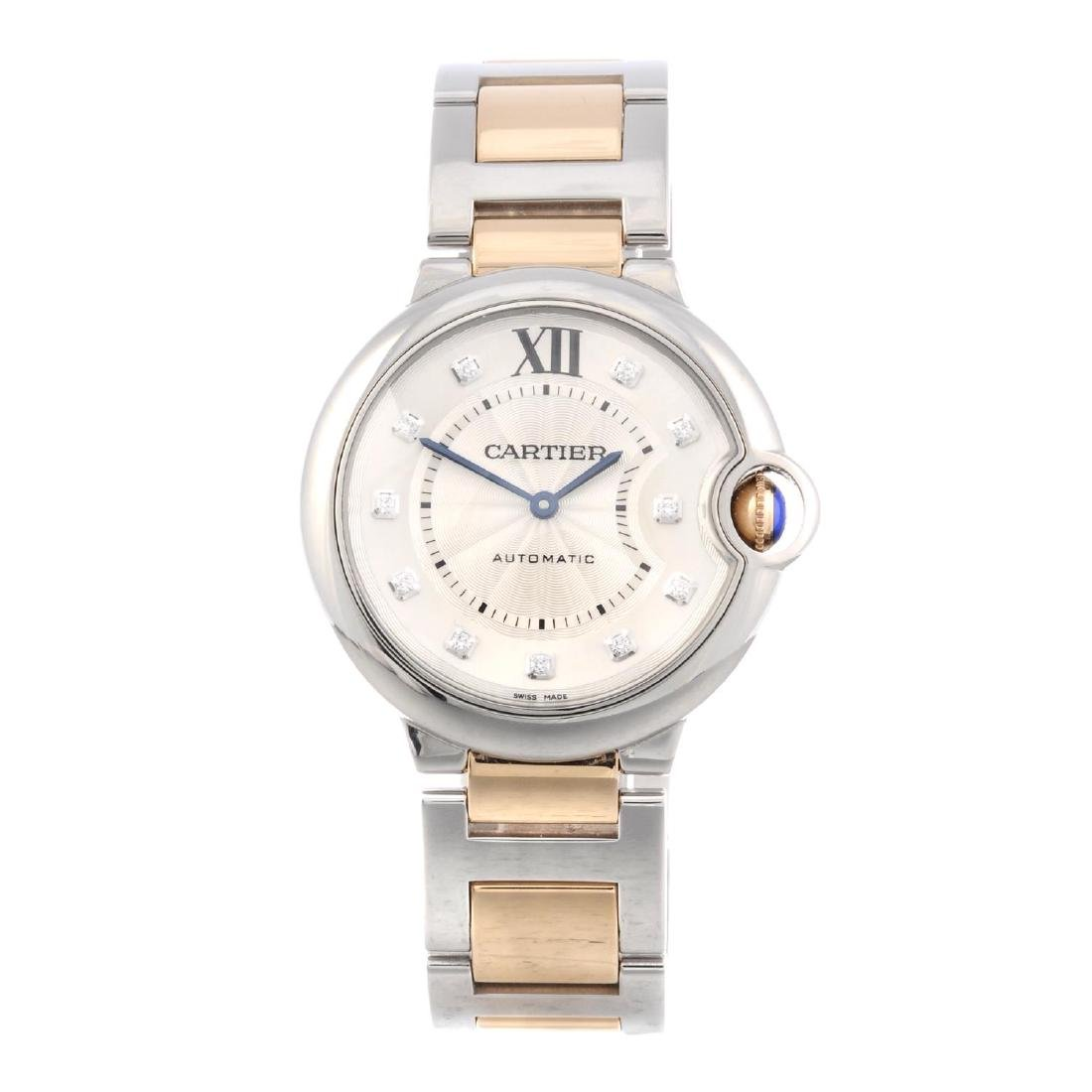 CARTIER - a Ballon Bleu bracelet watch. Stainless steel