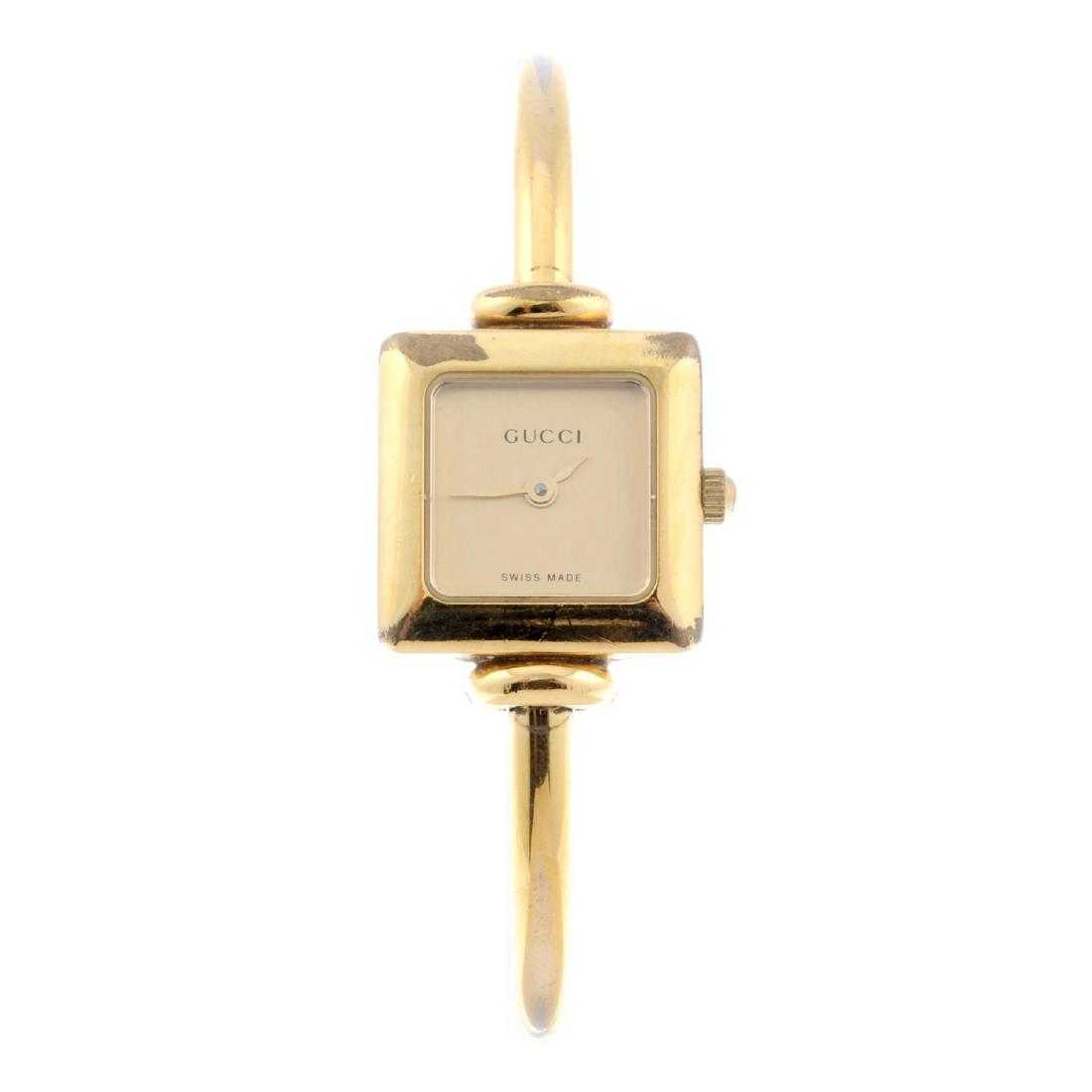 82f1336818d GUCCI - a lady s 1900L bracelet watch. Gold plated