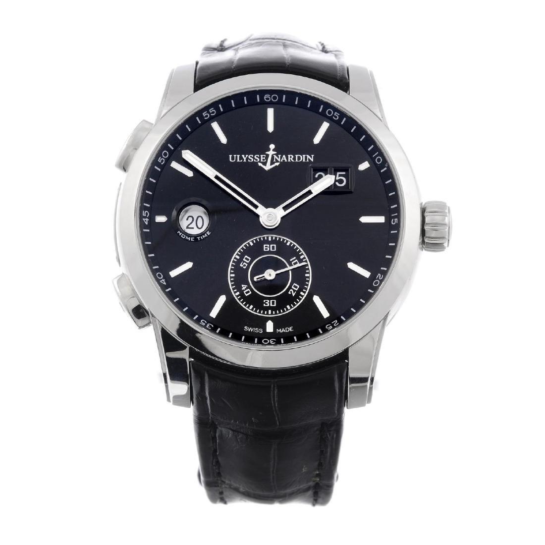 ULYSSE NARDIN - a gentleman's Dual Time wrist watch.