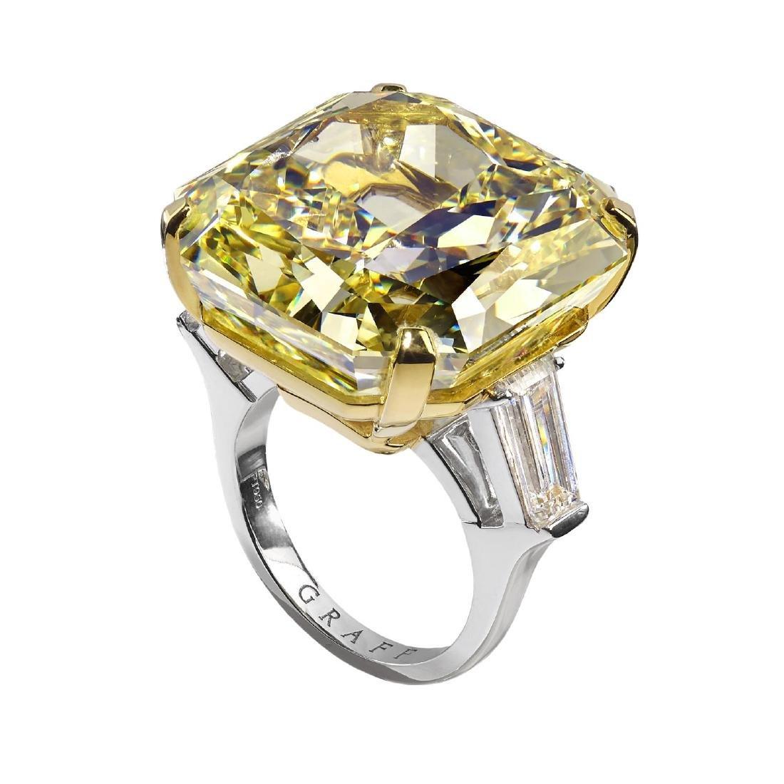 GRAFF - a Fancy Intense Yellow diamond ring. The