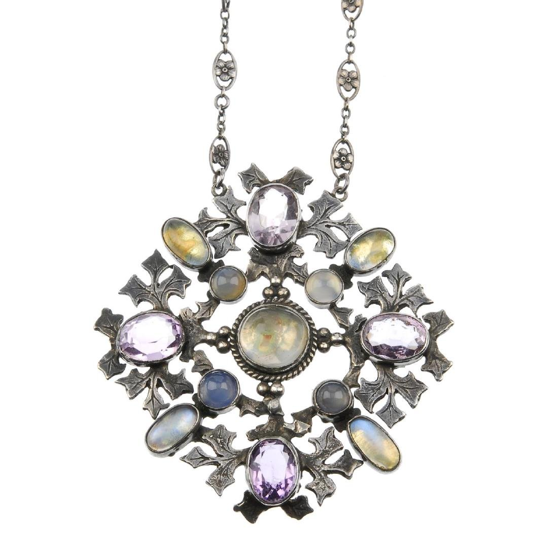 AMY SANDHEIM (attributed to) - a gem-set pendant.