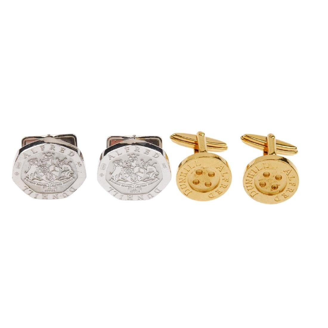 ALFRED DUNHILL - two pairs of cufflinks. The first of
