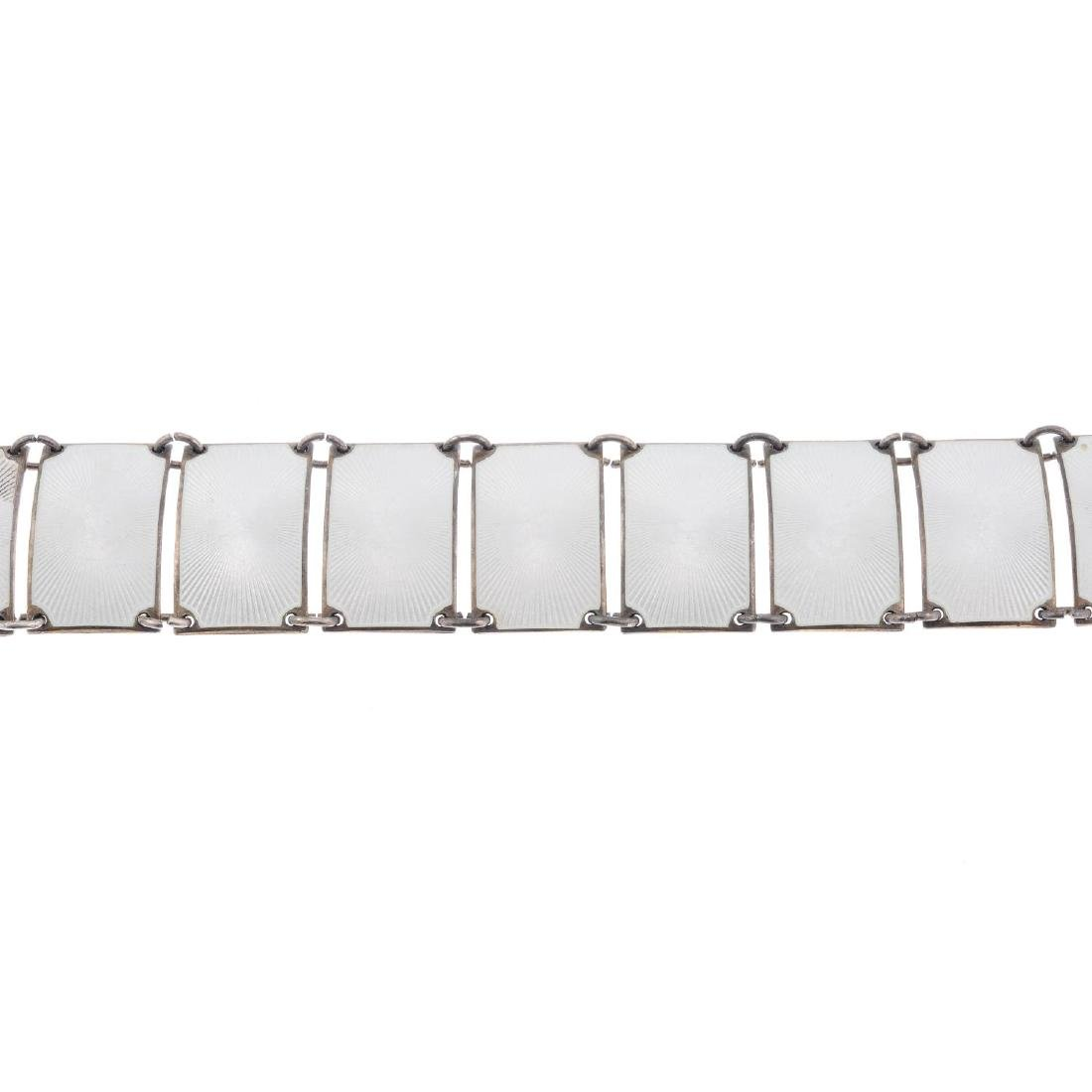 DAVID ANDERSEN - an enamel bracelet. Designed as twelve