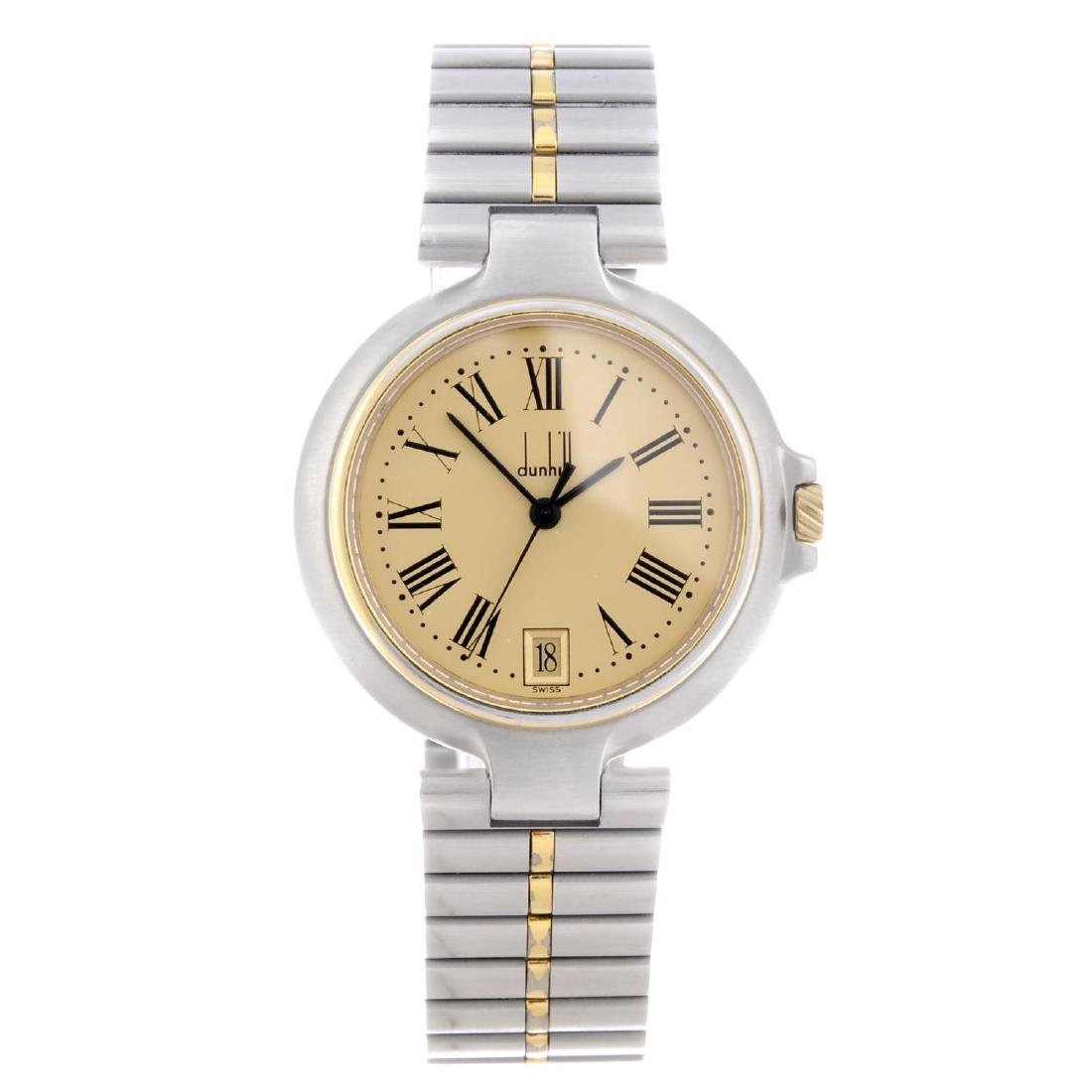 DUNHILL - a mid-size bracelet watch. Stainless steel