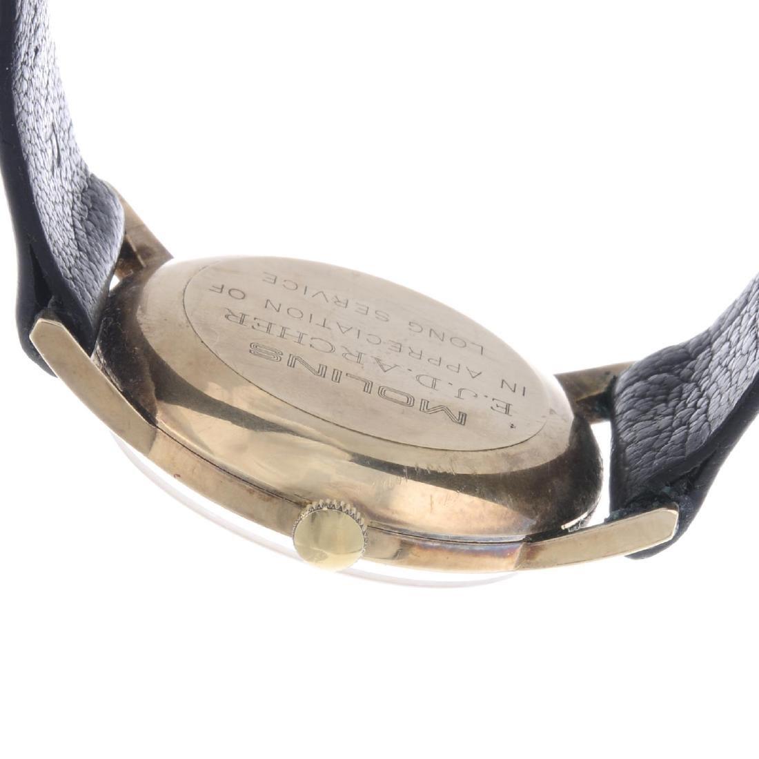 GARRARD - a gentleman's wrist watch. 9ct yellow gold - 2