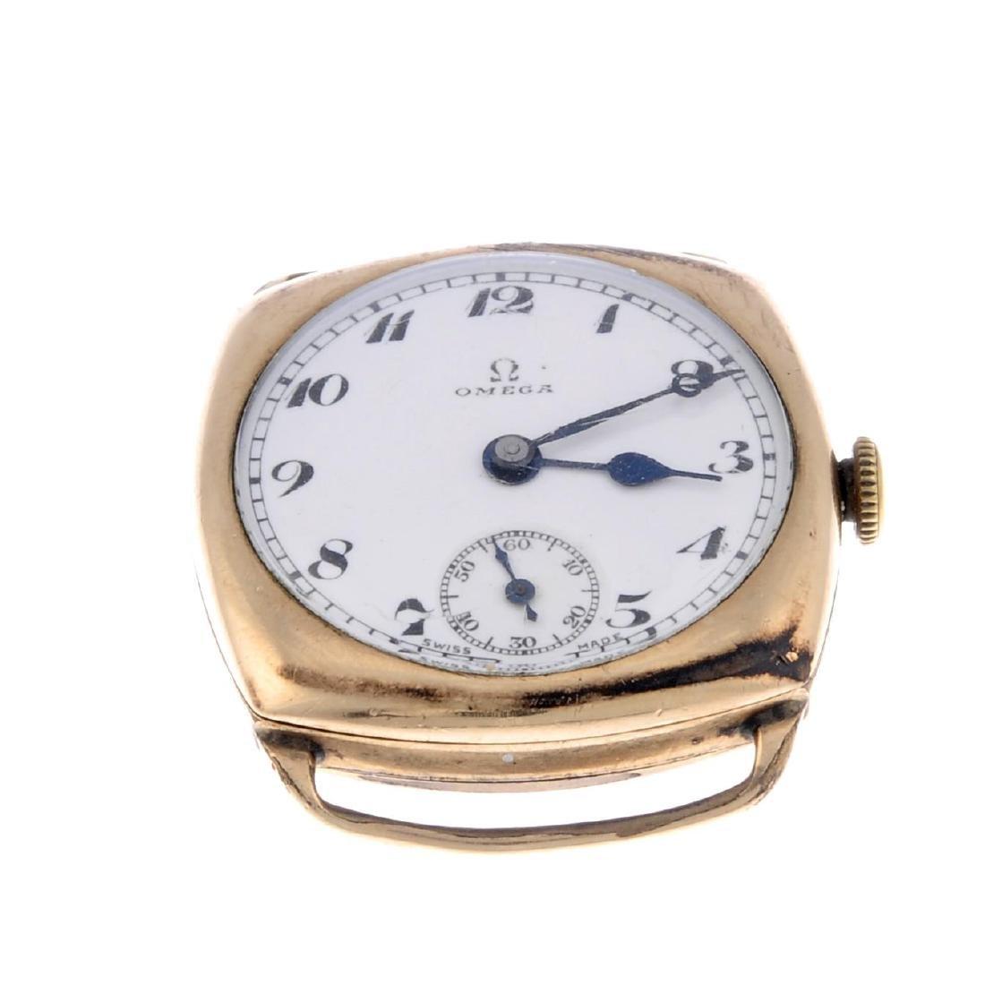 GARRARD - a gentleman's wrist watch. 9ct yellow gold - 5