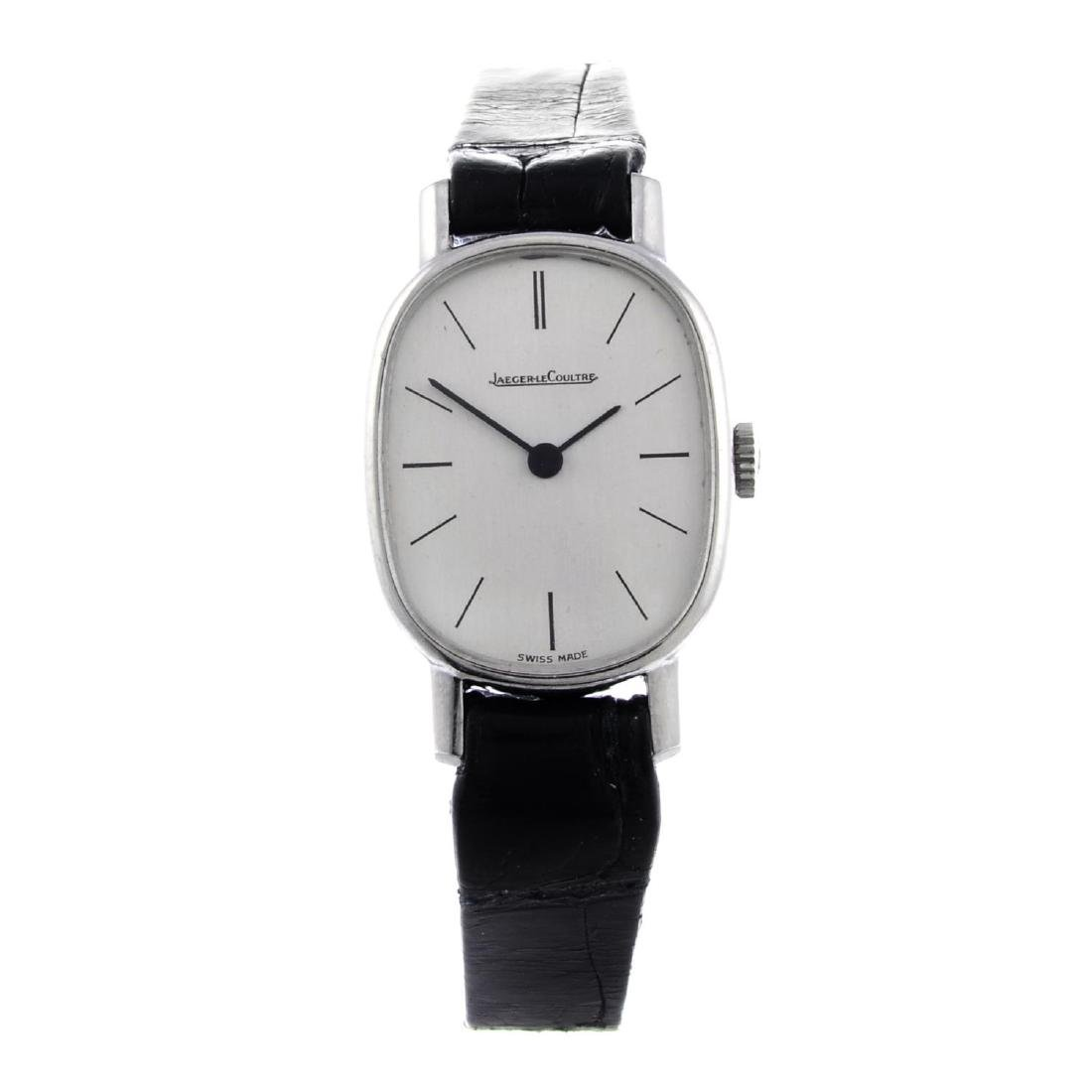 JAEGER-LECOULTRE- a lady's wrist watch. Stainless steel