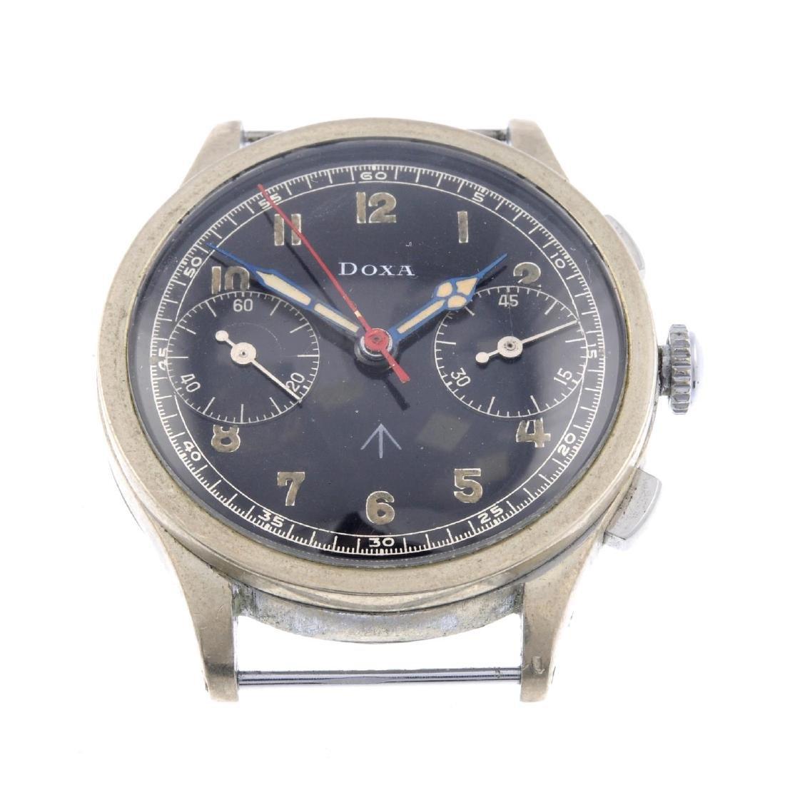 DOXA - a gentleman's chronograph watch head. Nickel