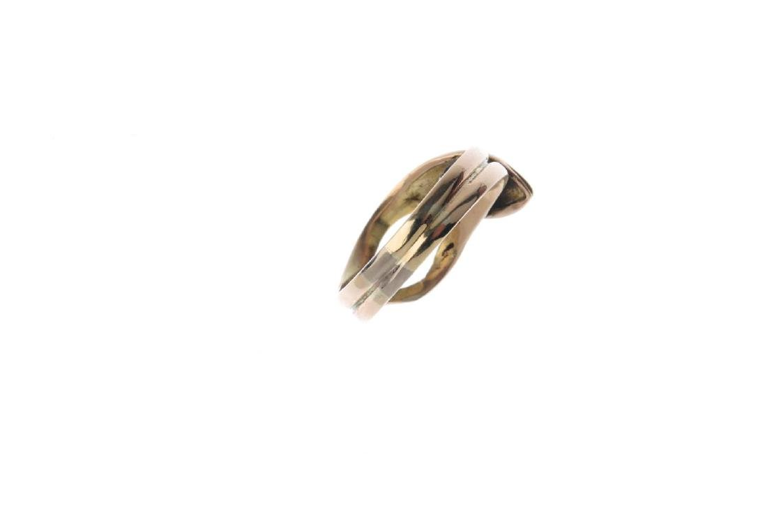 An early 20th century gold and sapphire snake ring. - 3