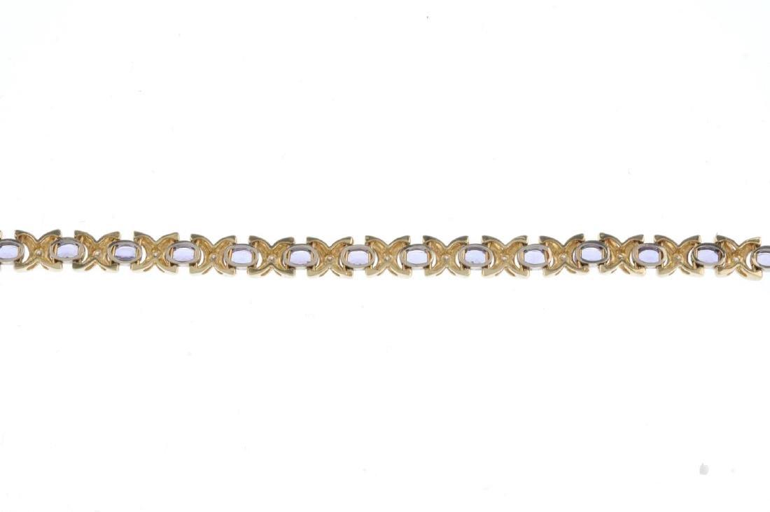 A tanzanite and diamond bracelet. Designed as a series - 2