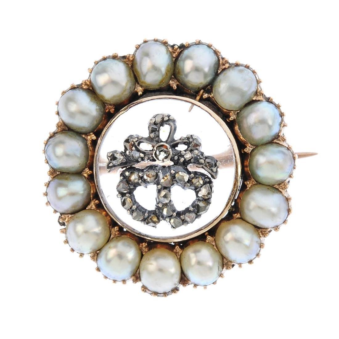 A mid Victorian gold, diamond and gem-set sentimental