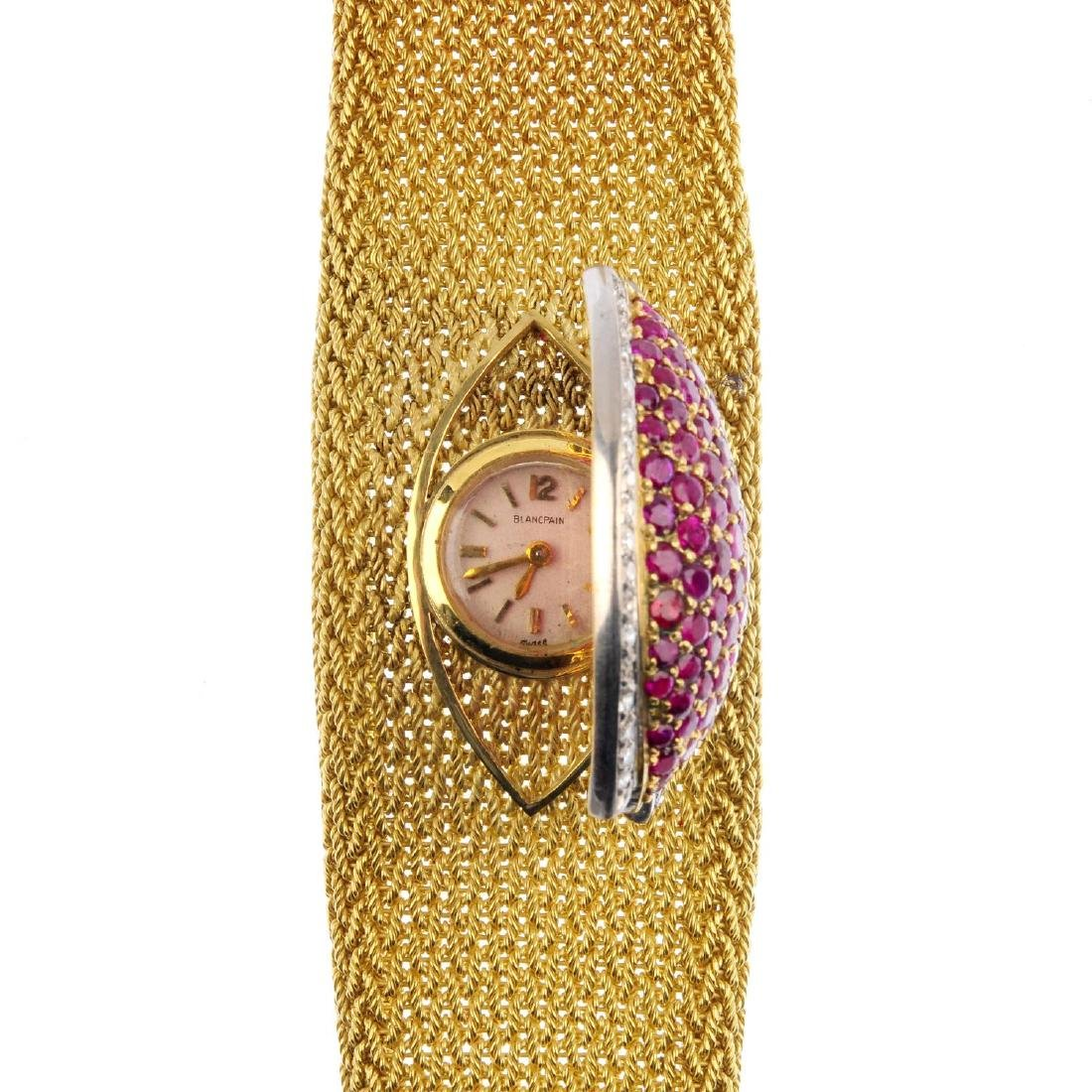 BLANCPAIN - a lady's diamond and ruby wrist watch. The