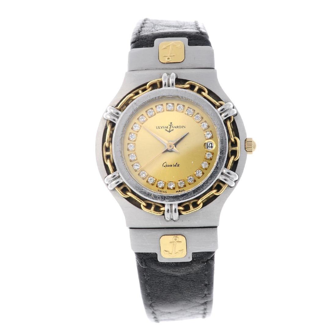 ULYSSE NARDIN - a lady's wrist watch. Bi-colour case.