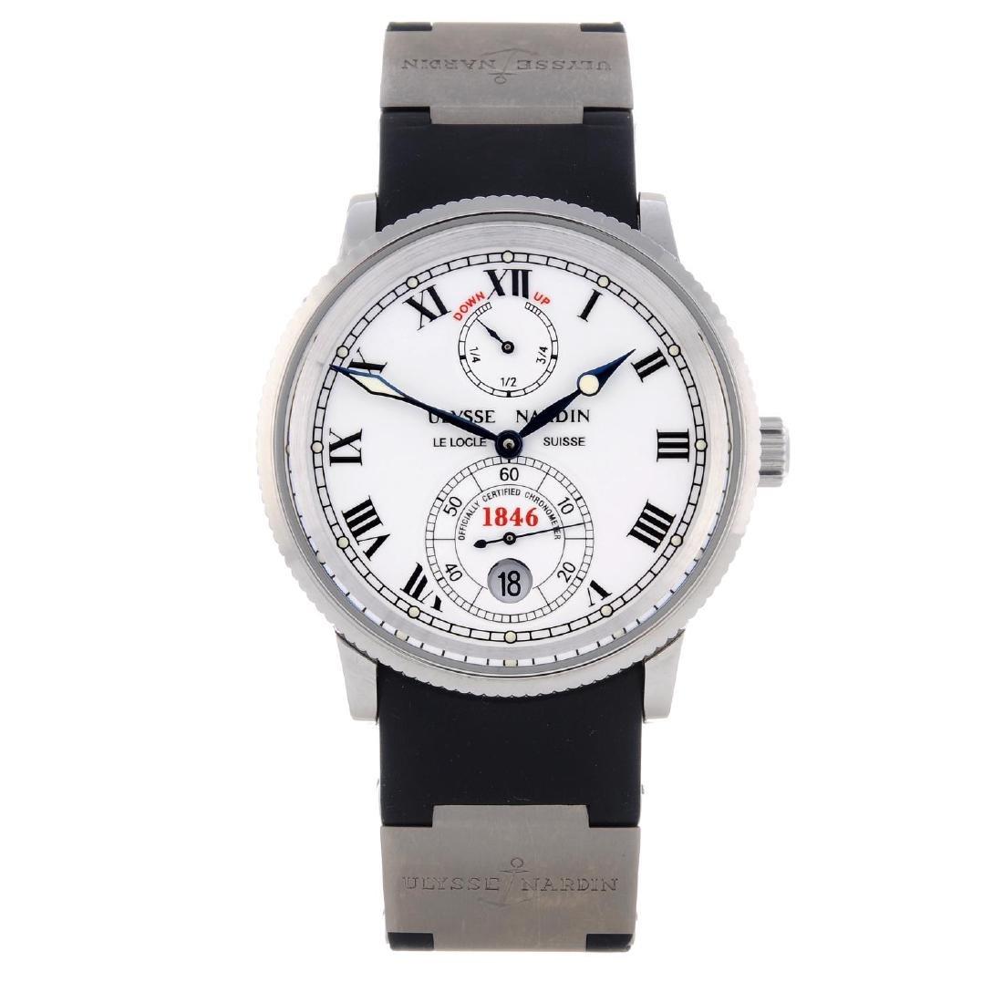 ULYSSE NARDIN - a gentleman's Marine wrist watch.