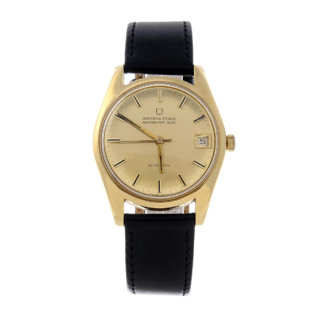 UNIVERSAL GENEVE - a gentleman's Polerouter Date wrist