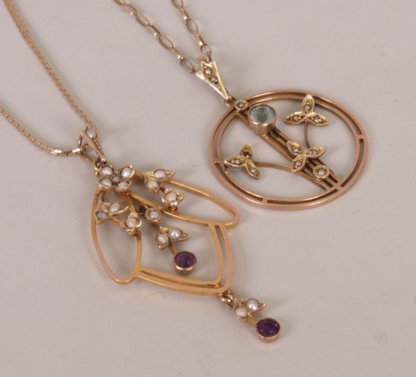2: Two early twentieth century pendants to include an a