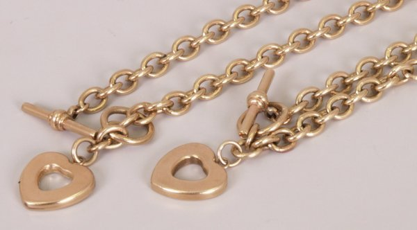 15: Two items to include a 9ct gold belcher link chain