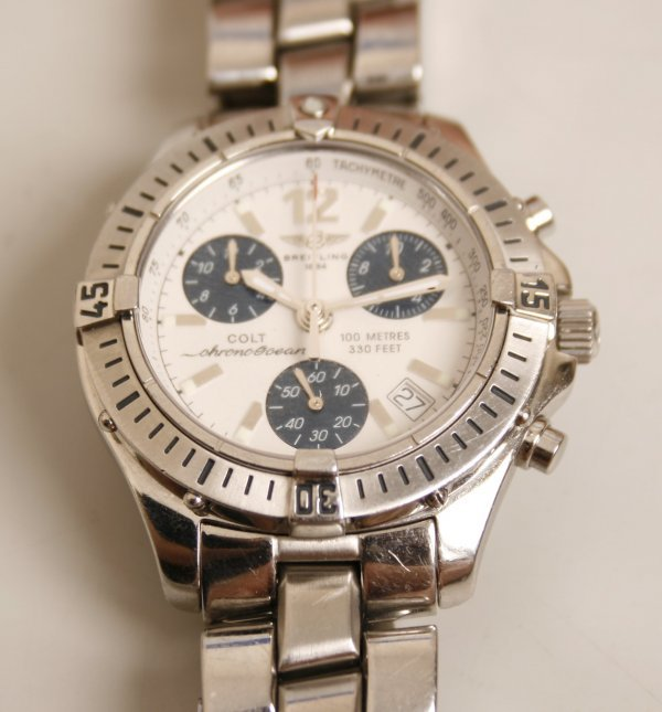2004:  BREITLING - a gentleman's stainless steel Chrono
