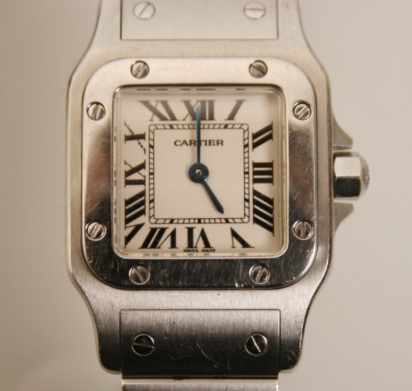 2015:  CARTIER - a ladies stainless steel Santos wristw