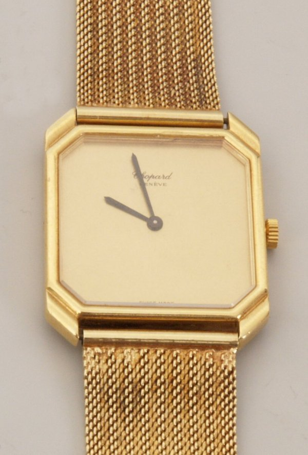 2021:  CHOPARD - a gentleman's 18ct gold manual wind sq