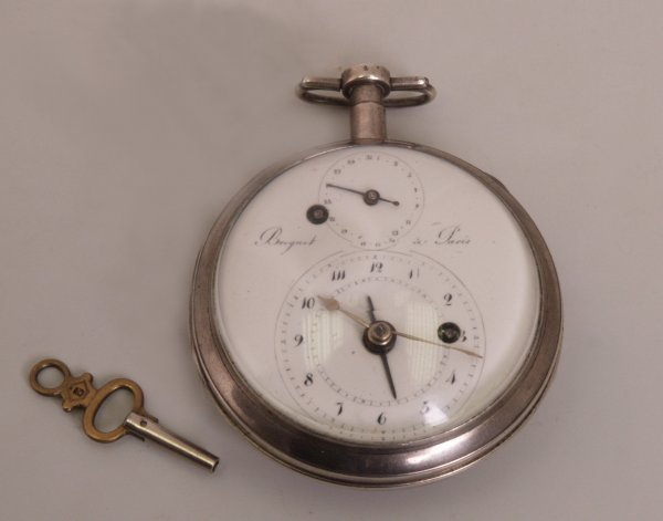 2292:  A nineteenth century silver cased alarm Breguet