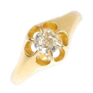 An early 20th century 18ct gold diamond dress ring The