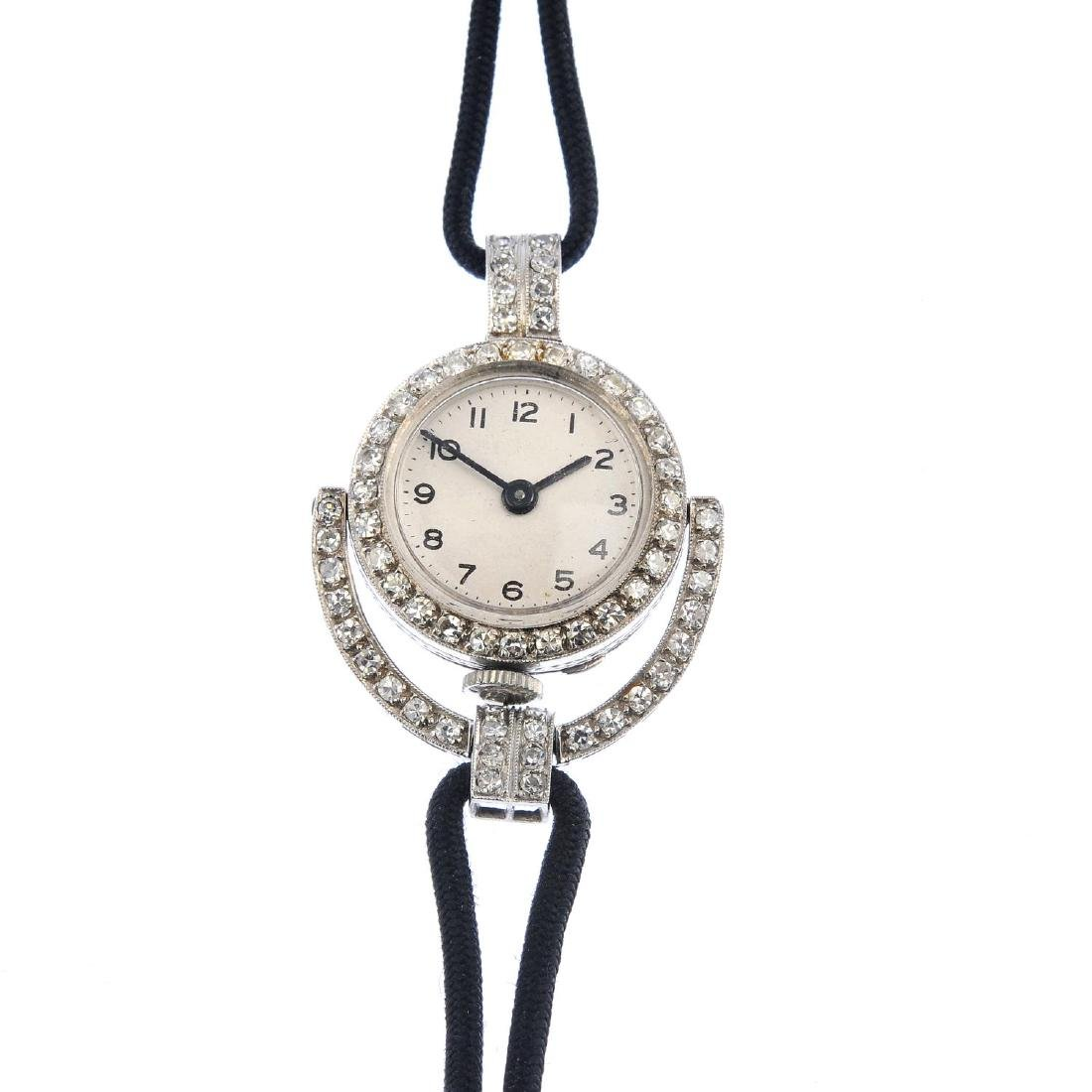 A lady's early 20th century diamond cocktail watch. The