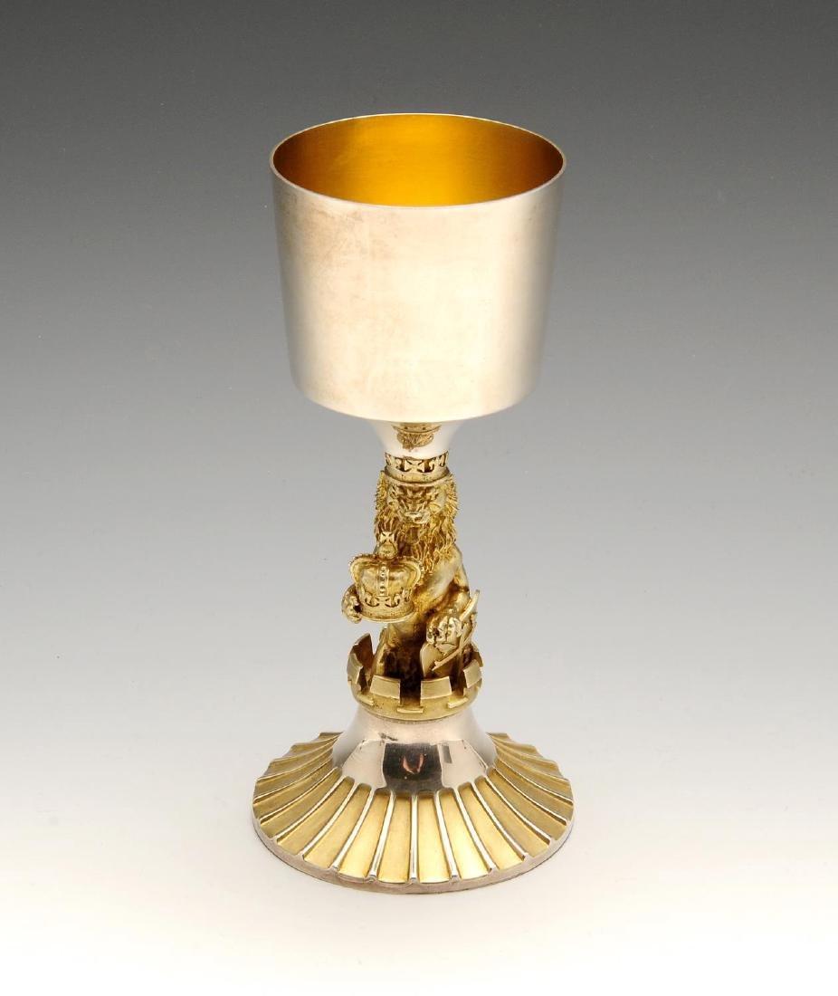 A silver and silver-gilt Silver Jubilee commemorative
