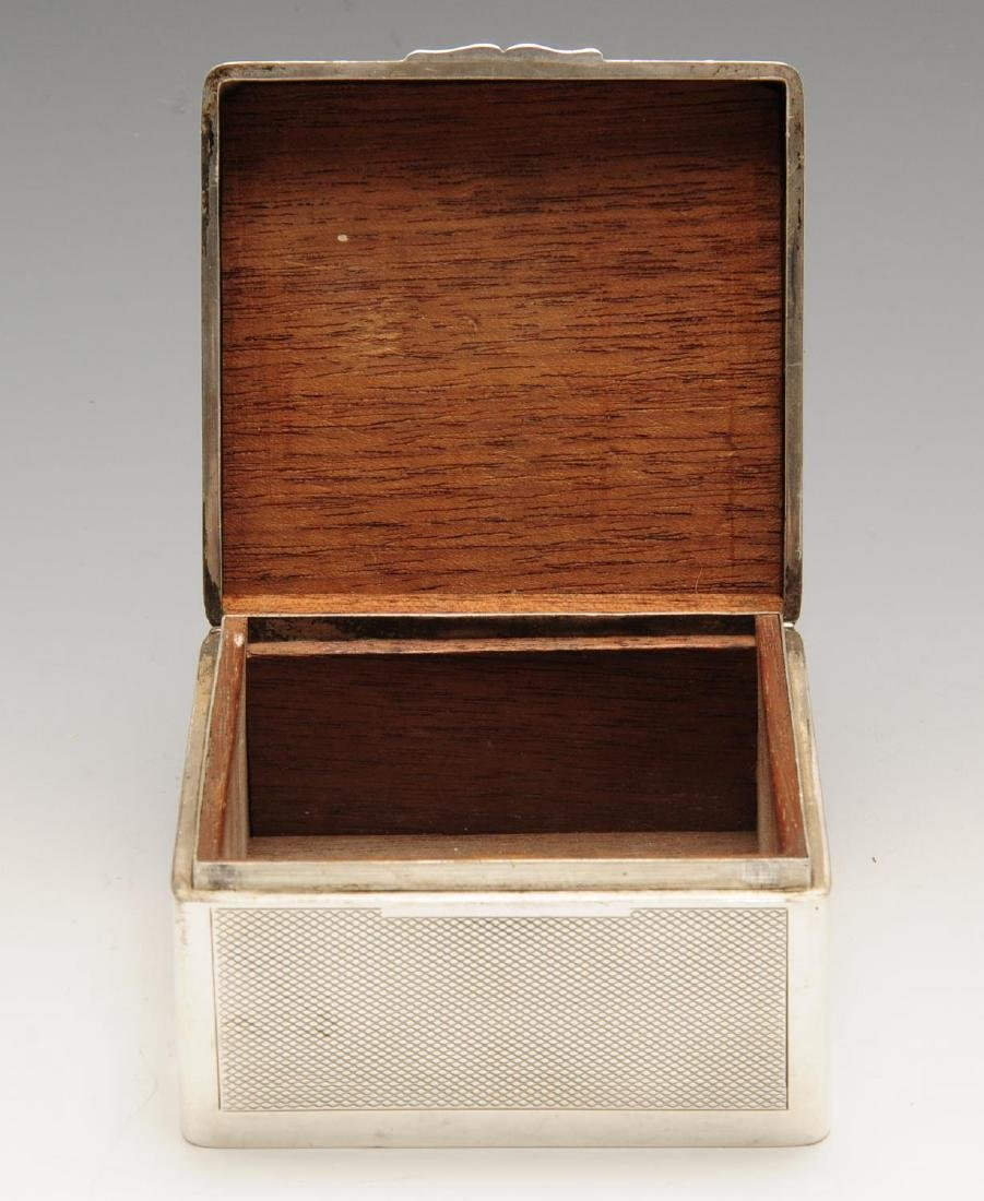 A late Victorian silver mounted table cigarette box, of - 2