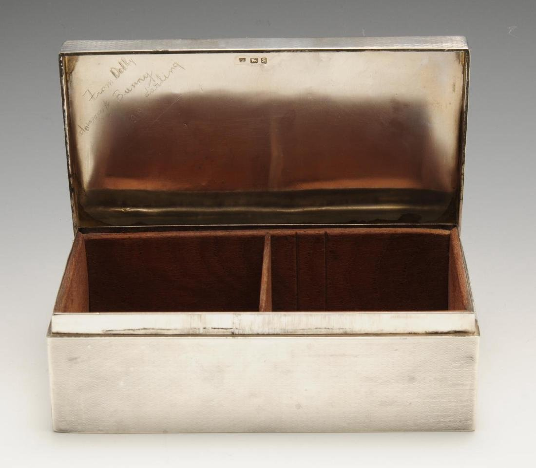 A late Victorian silver mounted table cigarette box, of - 5