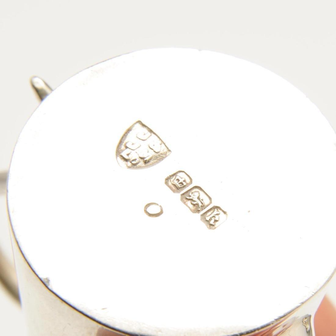An Edwardian silver miniature or toy four piece tea - 2