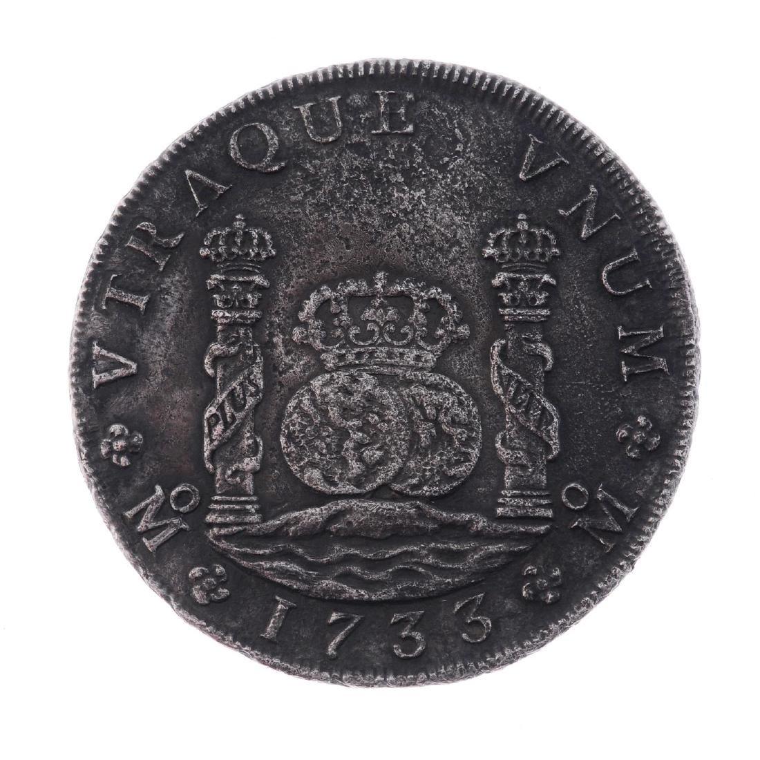 Mexico, Philip V, 8-Reales 1733MF, Mexico City, 24.9g