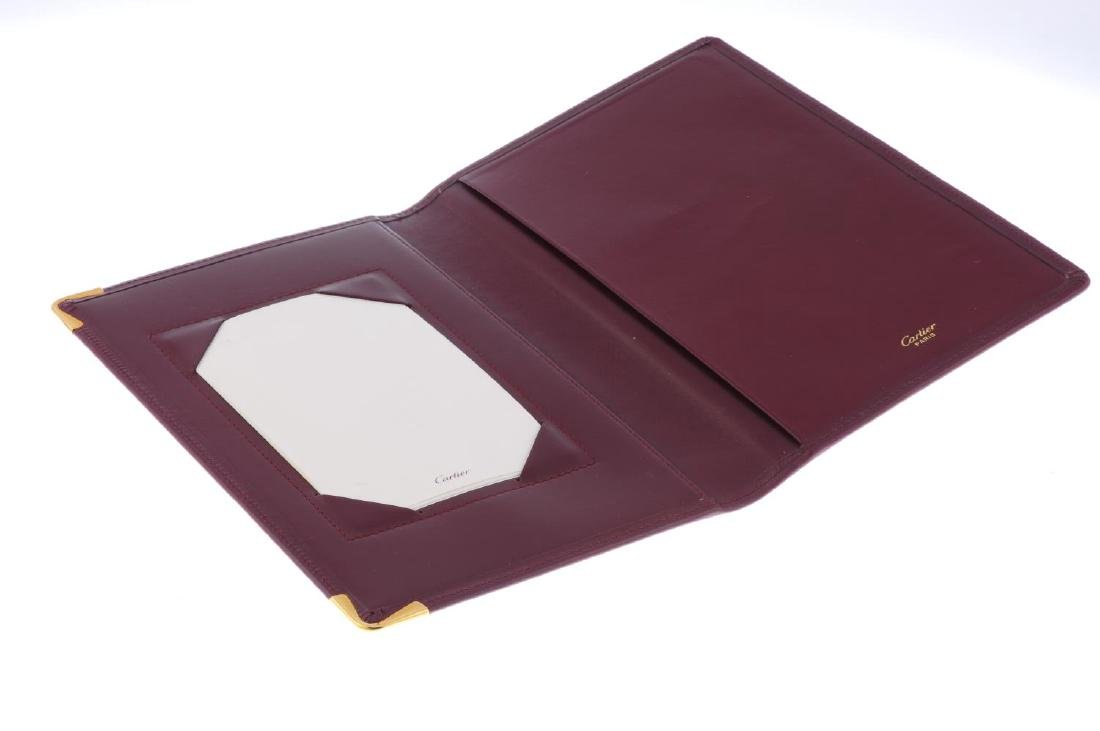 CARTIER - a Must De Cartier Bordeaux leather writing - 3