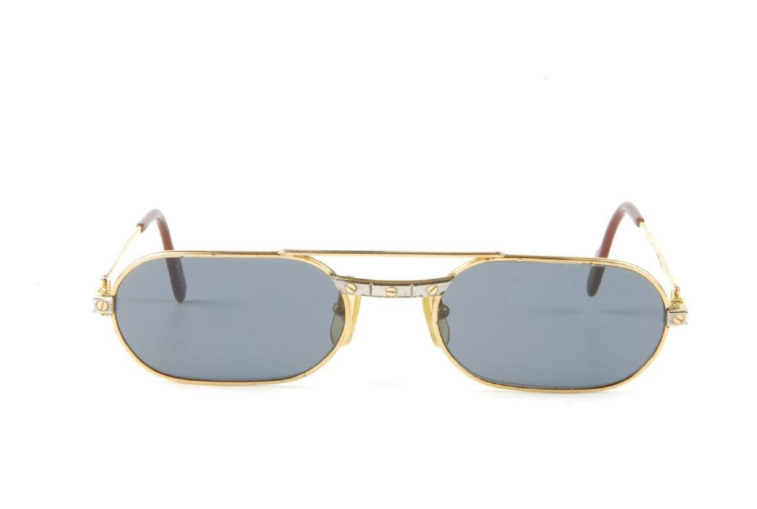 CARTIER - a pair of sunglasses. Designed with narrow - 2