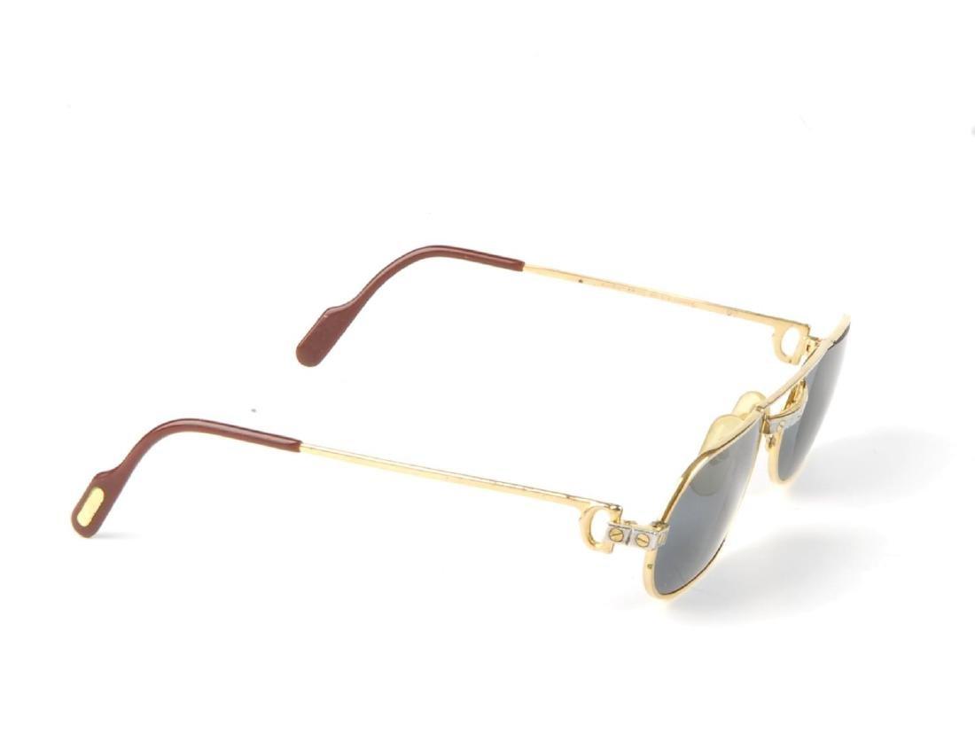 CARTIER - a pair of sunglasses. Designed with narrow - 3