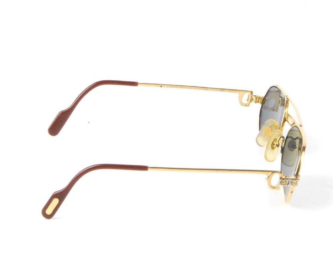 CARTIER - a pair of sunglasses. Designed with narrow - 4