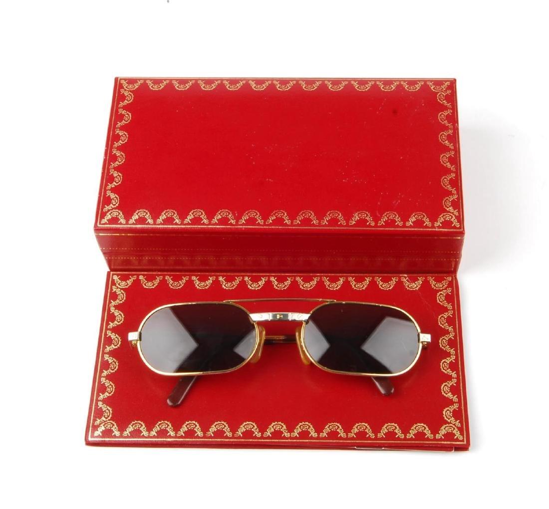 CARTIER - a pair of sunglasses. Designed with narrow - 5