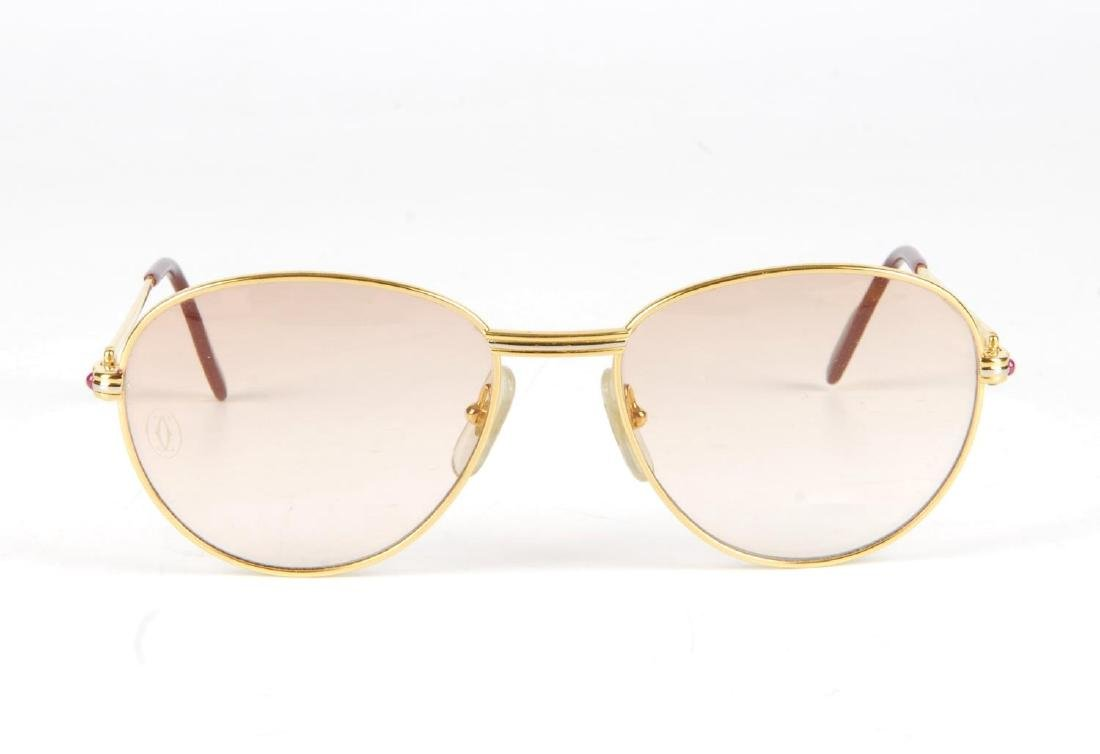 CARTIER - a pair of rose tinted sunglasses. Featuring - 2
