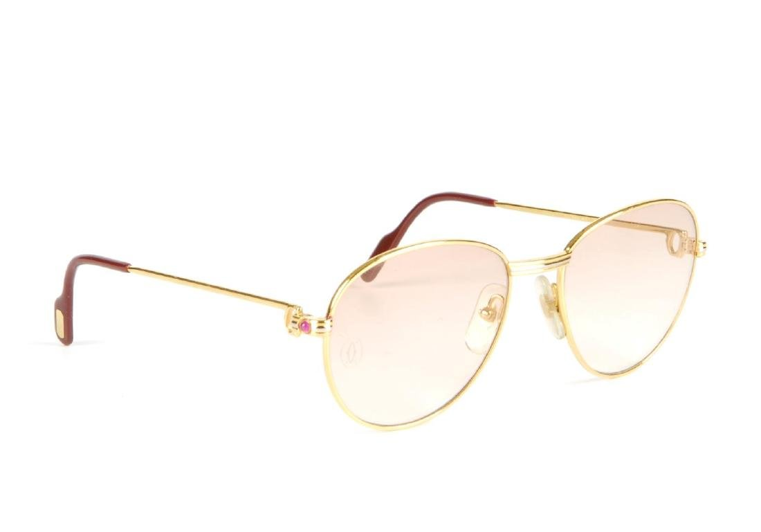 CARTIER - a pair of rose tinted sunglasses. Featuring - 3
