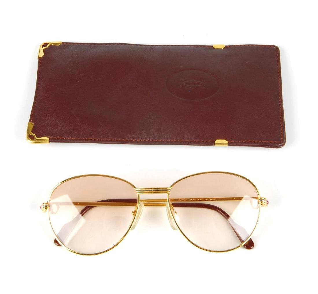 CARTIER - a pair of rose tinted sunglasses. Featuring - 5