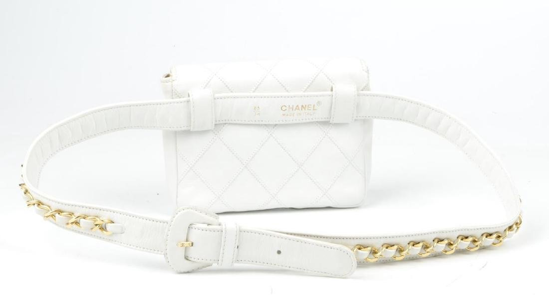 CHANEL - a vintage waist belt bag. Crafted from white - 4