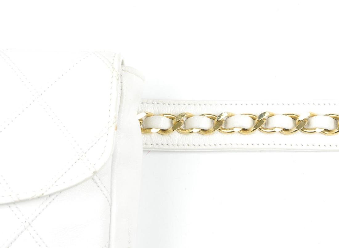 CHANEL - a vintage waist belt bag. Crafted from white - 5