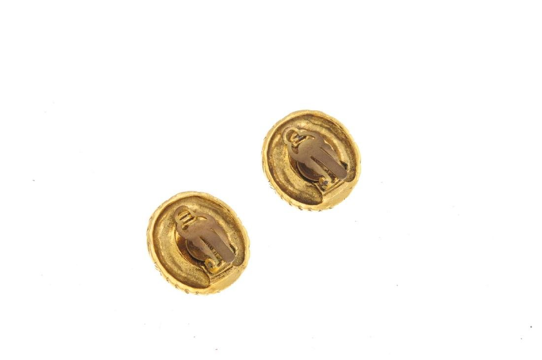 CHANEL - a pair of clip-on earrings. Each set with a - 2