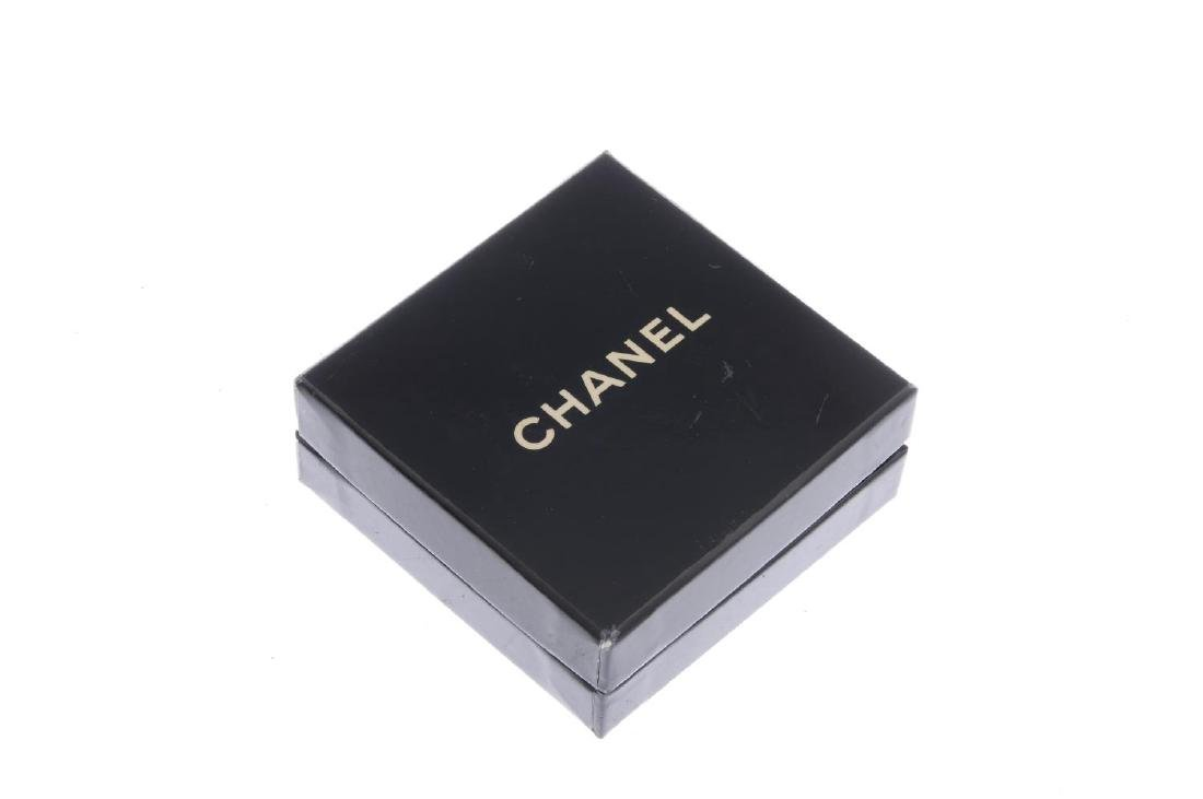 CHANEL - a pair of clip-on earrings. Each set with a - 3