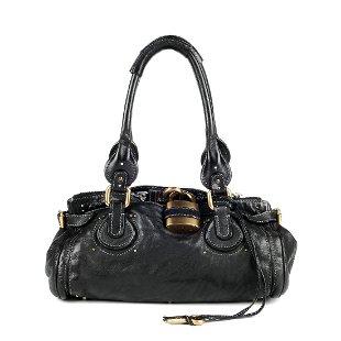 47d1ed3a605 Featuring a CHLOÉ - a black leather Paddington handbag. Featuring a