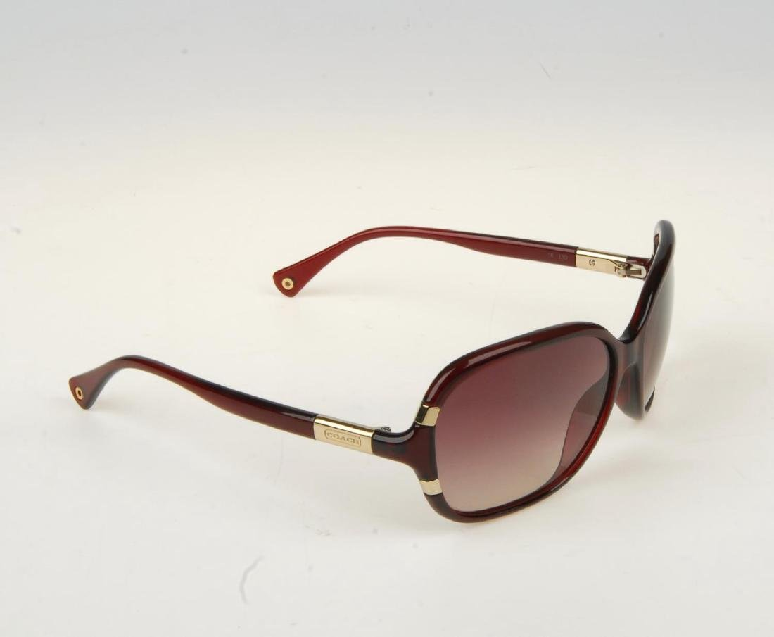 COACH - a pair of sunglasses. Featuring oversized brown - 2