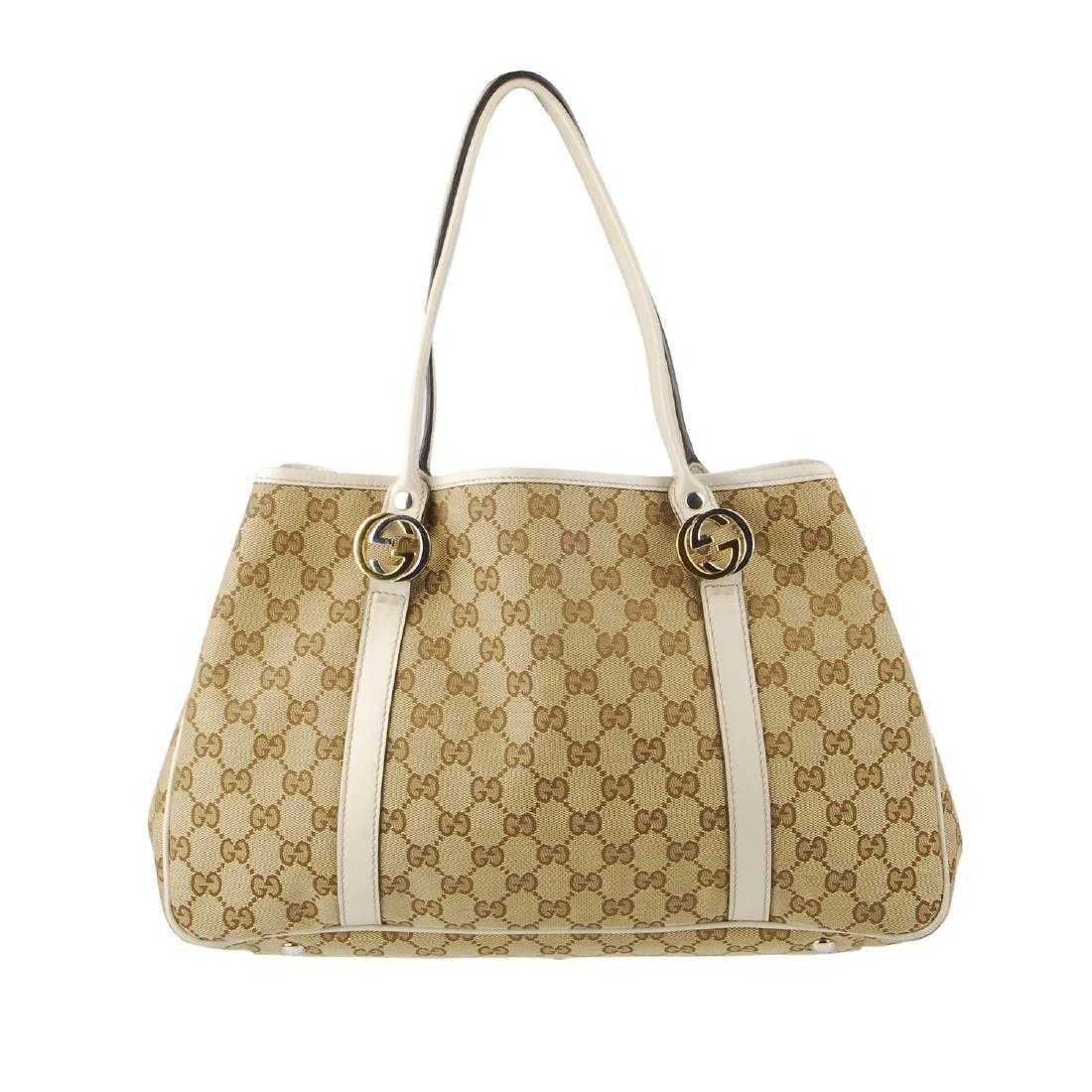 bef776f96ee GUCCI - a Monogram GG Twins Tote handbag. Crafted from